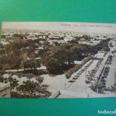 Postales: TUCUMAN PLAZA URQUIZA Y PARTE NORTE DE LA CIUDAD TARJETA POSTAL O.H. B.A. N. 35 ARGENTINA AÑOS 20. Lote 109381059