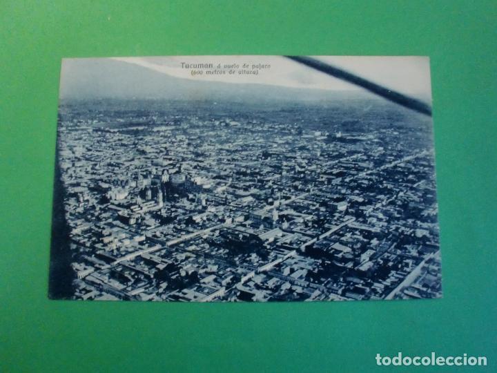 TUCUMAN A VUELO DE PAJARO 600 METROS TARJETA POSTAL O.H. B.A. N. 18 ARGENTINA AÑOS 20 (Postales - Postales Extranjero - América)