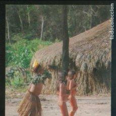 Postales: BRASIL. AM - *DANÇA DO TAUARAUANÂ NA ALDEIA DOS INDIOS IAUALAPITI ...* NUEVA.. Lote 109571911