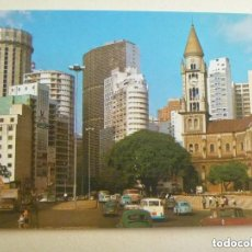 Postales: POSTAL DEL BRASIL TURISTICO : SAO PAULO , CALLE DE LA CONSOLACION . AÑOS 50.. Lote 110160791