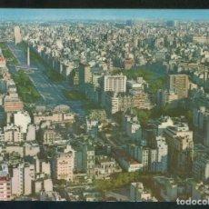 Postales: ARGENTINA. BUENOS AIRES. *VISTA AÉREA DE LA AV. 9 DE JULIO* CIRCULADA 1969.. Lote 110196503