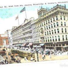 Postales: PHILADELPHIA. USA. MARKET STREET. Lote 110265235