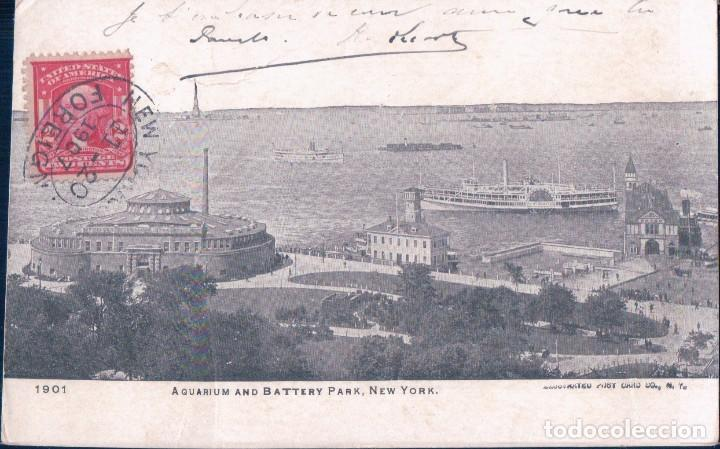 POSTAL NEW YORK - AQUARIUM AND BATTERY PARK (Postales - Postales Extranjero - América)
