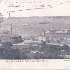 Postales: POSTAL NEW YORK - AQUARIUM AND BATTERY PARK . Lote 110438891