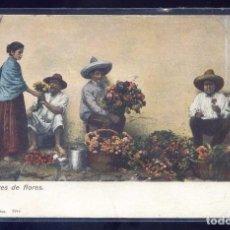 Postales: MÉXICO. *VENDEDORES DE FLORES...* EDT. J.G.HATTON Nº 7944. CIRCULADA 1911.. Lote 111044531