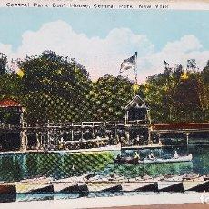 Postales: POSTAL ESTADOS UNIDOS, SIN CIRCULAR.- CENTRAL PARK BOAT HOUSE, NEW YORK. Lote 111967459