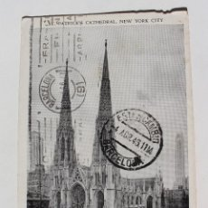 Postales: POSTAL ST.PATRICK'S CATHEDRAL 1946 CON SELLO THOMAS JEFFERSON 3 CENTS 14 X 9 CM. Lote 113144859
