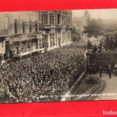 Postales: BUENOS AIRES. DESFILE DE LAS SOCIEDADES ESPAÑOLAS TOCANDO EL HIMNO ARGENTINO. Lote 114926275