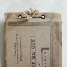 Postales: LIBRO DE 10 POSTALES DE RIO DE JANEIRO, 1950,TODAS DEL CRISTO DE CORCOVADO. Lote 115367488