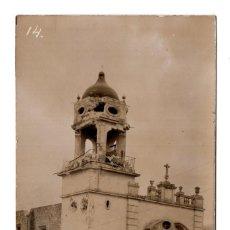 Postales: POSTAL FOTOGRÁFICA REVOLUCIÓN MEXICANA 1910, IGLESIA DEL CAMPO FLORIDO MEXICO. Lote 115519291