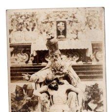 Postales: POSTAL FOTOGRÁFICA REVOLUCIÓN MEXICANA 1910, MEXICO GRUPO ESCULTORICO EN EL TEMPLO DE LA ENSEÑANZA. Lote 115523323