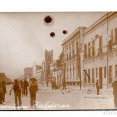Postales: POSTAL FOTOGRÁFICA REVOLUCIÓN MEXICANA 1910 - AVENIDA DE VALDERAS. Lote 115527043
