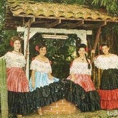 Postales: COSTA RICA BELLAS DE LA ASOCIACION DE BAILES COSTARRICENSES .LUCIENDO EL TRAJE TIPICO NACIONAL. Lote 115617543