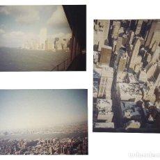 Postales: 3 FOTOGRAFÍAS INÉDITAS NUEVA YORK - NEW YORK - TORRES GEMELAS - WORLD TRADE CENTER - LONG ISLAND. Lote 117007919