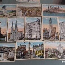Postales: 12 POSTALES COLOREADAS DE NEW YORK. Lote 119339055