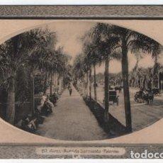 Postales: (ALB-TC-24) POSTAL ARGENTINA BUENOS AIRES AVENIDA SARMIENTO PALERMO NUEVA. Lote 119671679