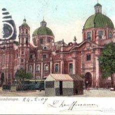 Postales: MEXICO. TARJETA POSTAL DE LA CATEDRAL DE GUADALUPE. J. G. HATTON, MEXICO, 7956.. Lote 121609423