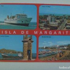 Postales: POSTAL DE VENEZUELA : ISLA MARGARITA ... VISTAS , BARCO, ETC. Lote 121679467
