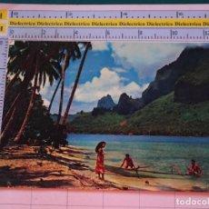 Postales: POSTAL DE TAHITI. AÑOS 60 70. PAOPAO BAY. AEROLÍNEAS PAN AM. 1688. Lote 122042391