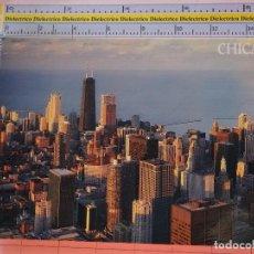 Postales: POSTAL DE ESTADOS UNIDOS. AÑOS 70 80. CHICAGO ILLINOIS, SKYLINE SEARS TOWER RASCACIELOS. 1674. Lote 122043607