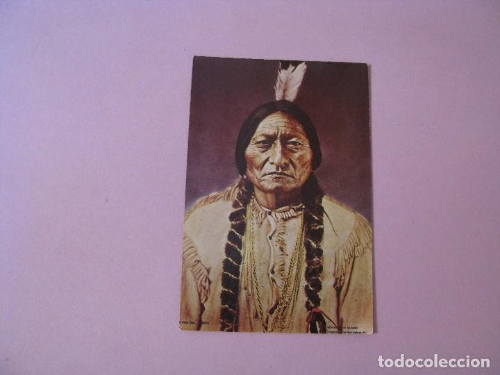 POSTAL DE PHOTOGRAPHS OF THE OLD WEST. CURTEICHCOLOR. INDIO LLAMADO SITTING BULL. (Postales - Postales Extranjero - América)