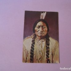 Postales: POSTAL DE PHOTOGRAPHS OF THE OLD WEST. CURTEICHCOLOR. INDIO LLAMADO SITTING BULL.. Lote 122711895