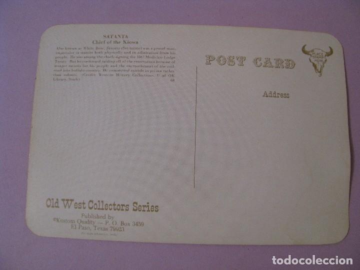Postales: POSTAL DE SERIE OLD WEST COLLECTORS SERIES. INDIO LLAMADO SATANTA. - Foto 2 - 122712363