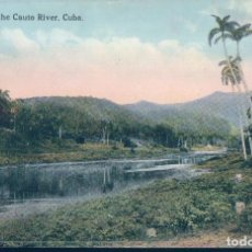 Postales: POSTAL CUBA - ON THE CAUTO RIVER - 3007 - PUBLISHED BY HARRIS BROS CO. Lote 126568191