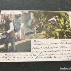 Postales: POSTAL MÉJICO HISTORIA POSTAL AGUADOR CIRCULADA ESCRITA. Lote 127402067