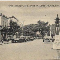 Postales: E.E.U.U. .- LONG ISLAND .- MAIN STREET , SAG HARBOR .- EDITION TOMLIN . Lote 128583175