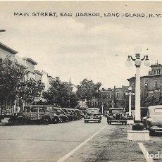 Postales: E.E.U.U. .- LONG ISLAND .- MAIN STREET , SAG HARBOR .- EDITION TOMLIN . Lote 128583547