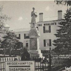 Postales: E.E.U.U. .- LONG ISLAND .- CIVIL WAR MONUMENT , SAG HARBOR .- EDITION TOMLIN . Lote 128583619