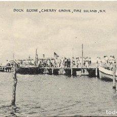 Postales: U.S.A .- DOCK SCENE , CHERRY GROVE , FIRE ISLAND , N.Y. .- EDITION TOMLIN . Lote 128615059