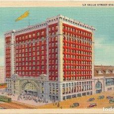 Postales: U.S.A .- LA SALLE STREET STATION , CHICAGO Nº 110 . Lote 128616347