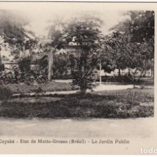 Postales: POSTAL ANTIGUA BRASIL CUYABÁ - ETAT DE MATTO-GROSSO (BRÉSIL) - LE JARDIN PUBLIC. Lote 128633059