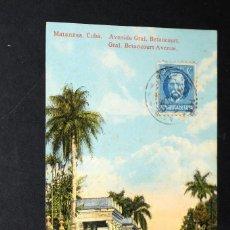Postales: TARJETA POSTAL MATANZAS. CUBA. AVENIDA GENERAL BETANCOURT 39. Lote 128644419