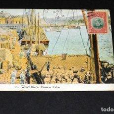 Postales: TARJETA POSTAL HABANA.CUBA ESCENA DEL MUELLE 31. Lote 128646263