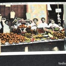Postales: TARJETA POSTAL PUESTO DE FRUTAS. SANTIAGO DE CUBA 29. Lote 128646451