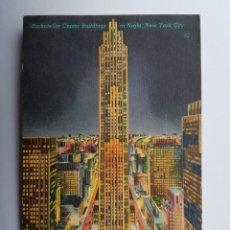 Postales: ROCKEFELLER CENTER BUILDINGS AT NIGHT. Lote 130139147