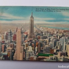 Postales: ROOF VIEW OF NEW YORK CITY EMPIRE STATE BUILDING IN CENTER. Lote 130455294