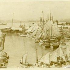 Postales: PUERTO RICO. VISTA GENERAL DEL PUERTO. HACIA 1900. FOTOGRÁFICA.. Lote 131150240