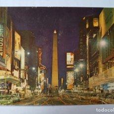 Postales: BUENOS AIRES AVENIDA CORRIENTES Y OBELISCO VISTA NOCTURNA, ARGENTINA. Lote 131876382