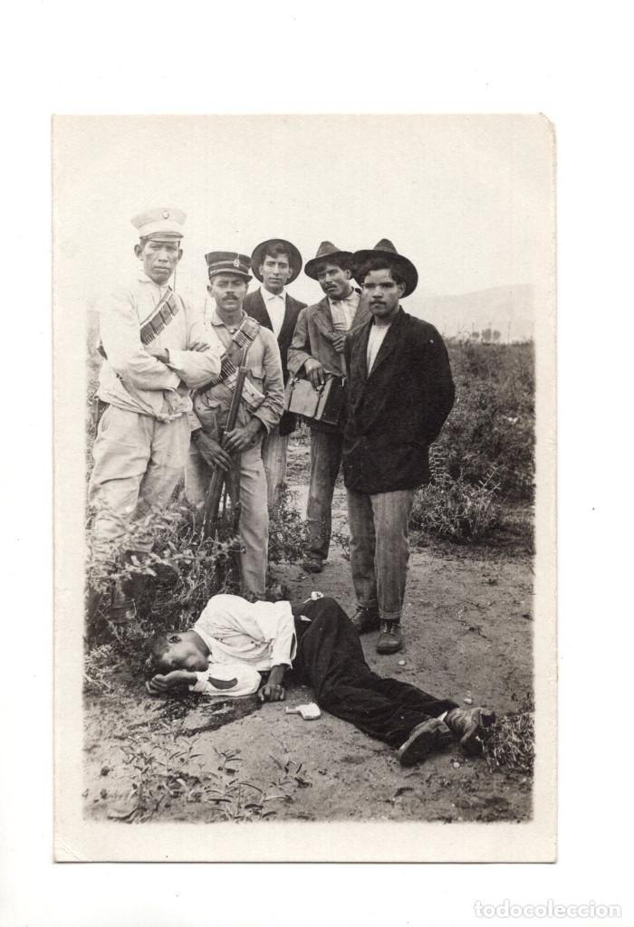 POSTAL FOTOGRÁFICA REVOLUCIÓN MEXICANA 1910, MEXICO - CADAVER (Postales - Postales Extranjero - América)