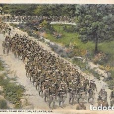 Postales: ATLANTA - SOLDIERS ON A HIKE, CAMP GORDON. ATLANTA, GA. - CIRCULADA 1917. Lote 134834833