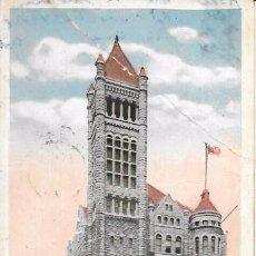 Postales: SYRACUSE, N. Y. - CITY HALL - CIRCULADA - 1918. Lote 134835062