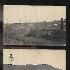 Postales: 2 POSTALES AÑO 1925 * YACIMIENTOS PETROLÍFEROS COMODORO RIVADAVIA -PATAGONIA * (ARGENTINA). Lote 133819854