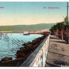 Postales: CHILE, VALPARAISO, AV. ALTAMIRANO, ESCRITA EN SU PARTE POSTERIOR. Lote 134321786