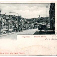 Postales: CHILE, VALPARAISO, AVENIDA BRASIL, CON SELLO COLON. Lote 134323058