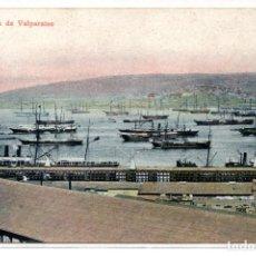 Postales: CHILE, VALPARAISO, BAHIA DE VALPARAISO, SIN CIRCULAR. Lote 134324898