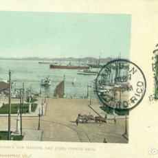 Postales: PUERTO RICO. SAN JUAN. EL PUERTO. CIRCULADA EN 1903.. Lote 135353770